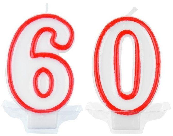 Świeczki urodzinowe 60 pt60