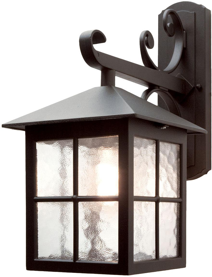 Kinkiet zewnętrzny Winchester BL19 Elstead Lighting czarna oprawa ścienna w klasycznym stylu