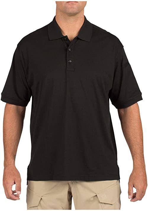 5.11 Tactical męska koszulka polo, z krótkim rękawem, nie gniecie się, bawełna, styl 71182 L czarna