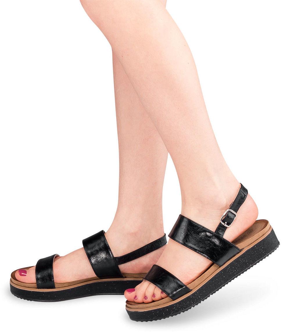 Sandały damskie Bestelle 100-888SA-1 Czarne