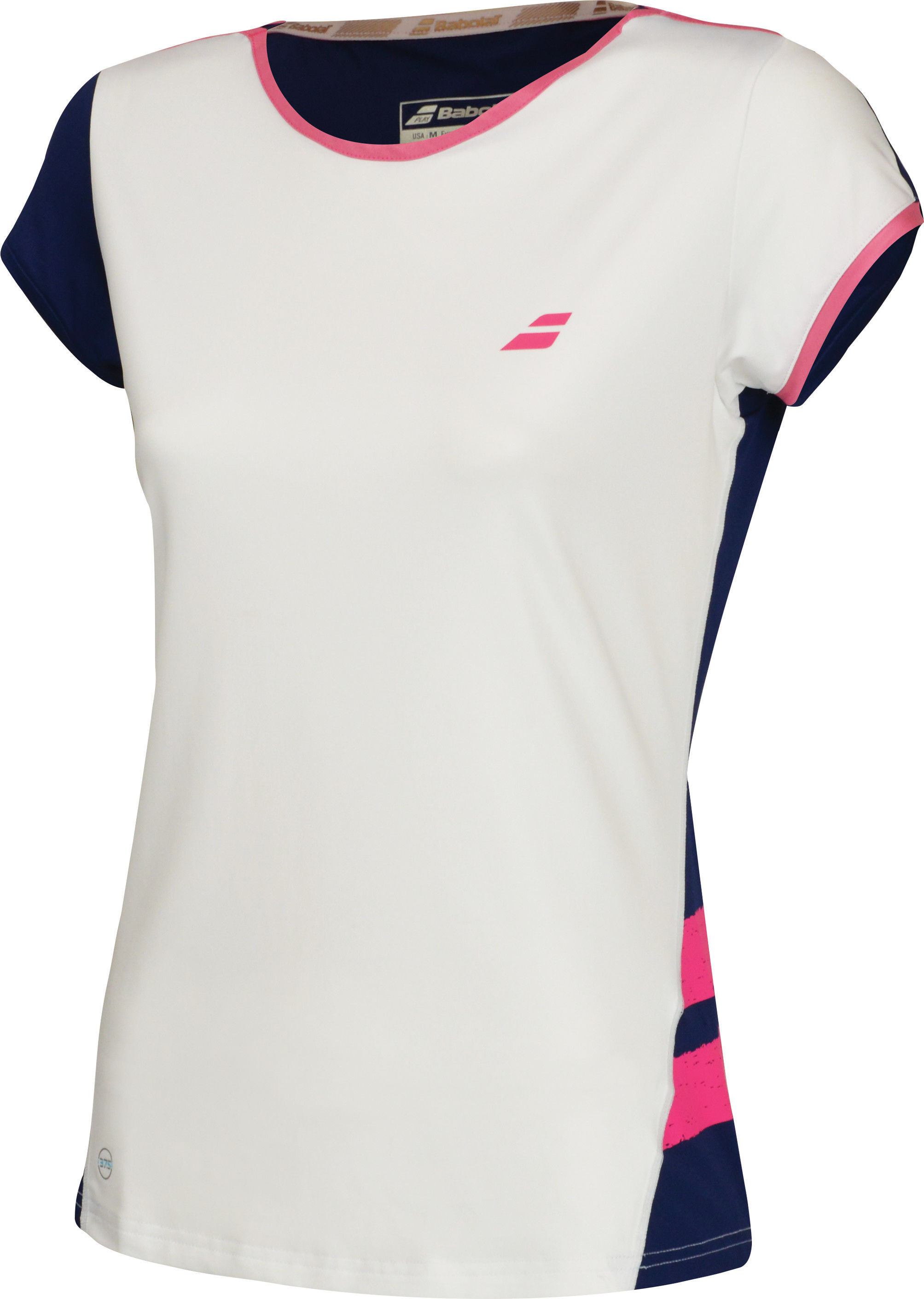 Babolat Perf Cap Sleeve Top W - white/blue