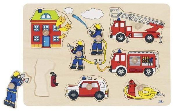 Straż pożarna, goki - zabawki drewniane