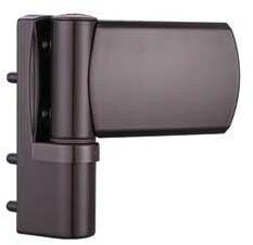 Zawias do drzwi PVC greenteQ przylga 16,5-19,5 kolor brąz do 120 kg