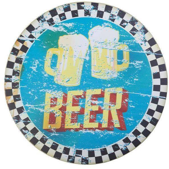 Tablica ozdobna okrągła piwo