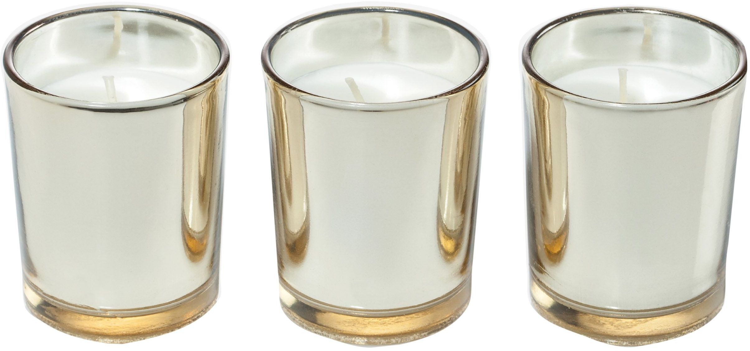 Ritzenhoff Aroma Naturals Luxury świeca zapachowa, zestaw 3 szt., szkło, czarna, żółta, 5 x 5 x 6 cm, 3 sztuki