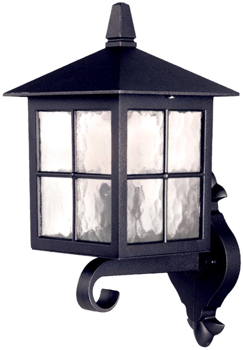 Kinkiet zewnętrzny Winchester BL17 Elstead Lighting czarna oprawa ścienna w klasycznym stylu