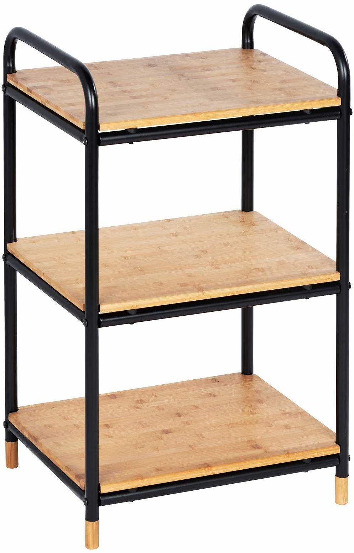 Wenko 50702100 regał na loft z 3 półkami, bambus, 42 x 69 x 33, 5 cm, brązowy