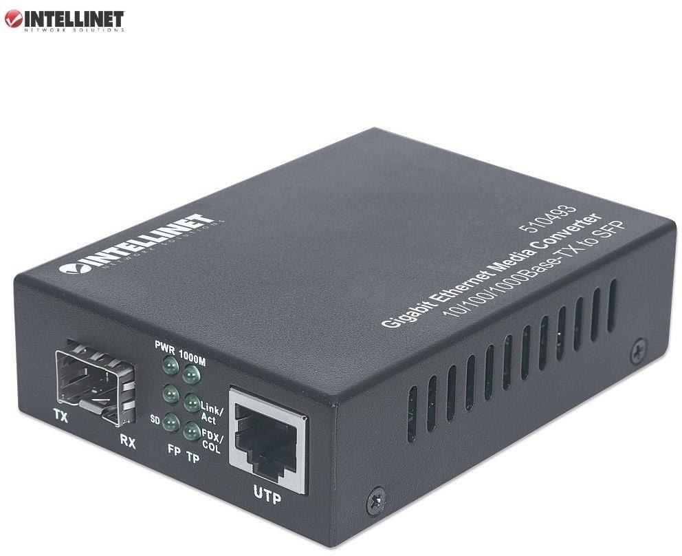 Media konwerter Intellinet 10/100/1000Base-TX RJ45/SLOT SFP Mini GBIC