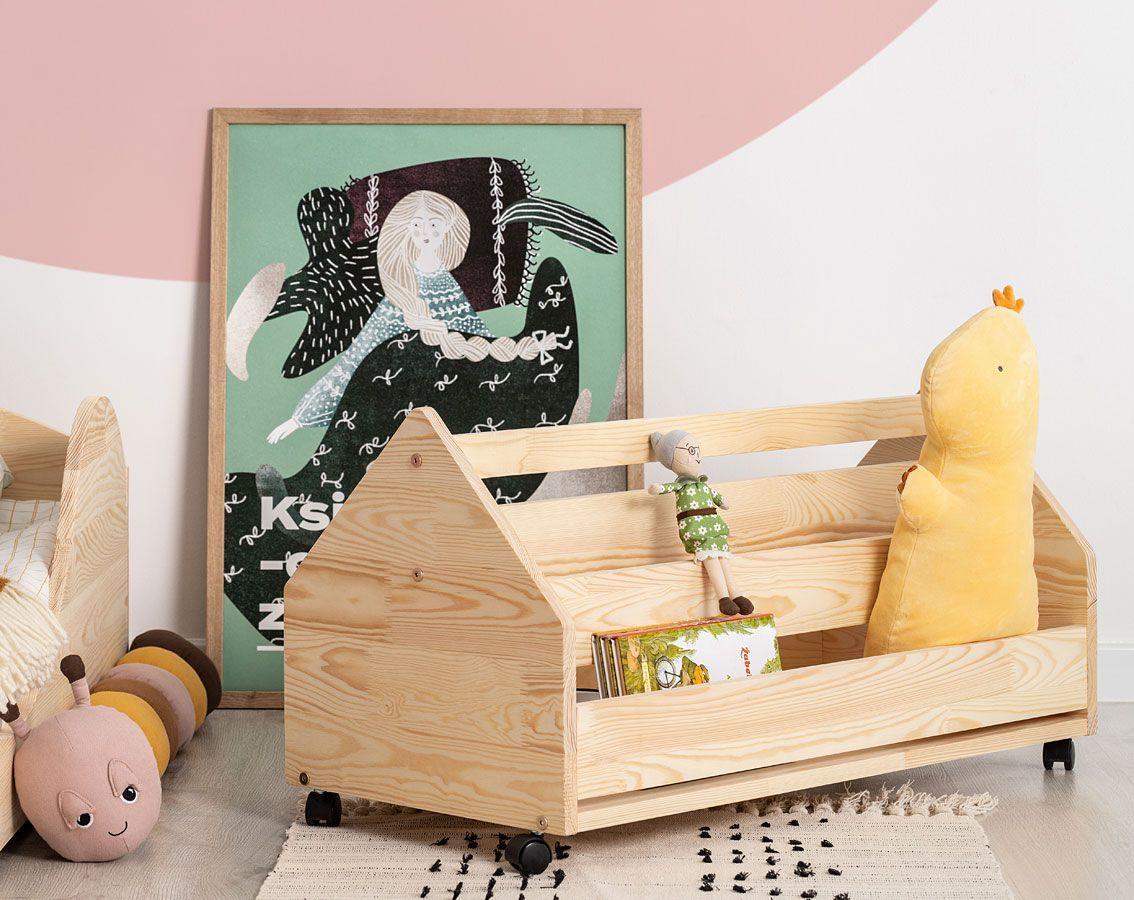 Drewniana skrzynia na zabawki Zozo 2S