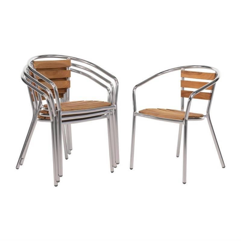 Krzesła sztaplowane 4 szt. 55,5x53x(H)73cm
