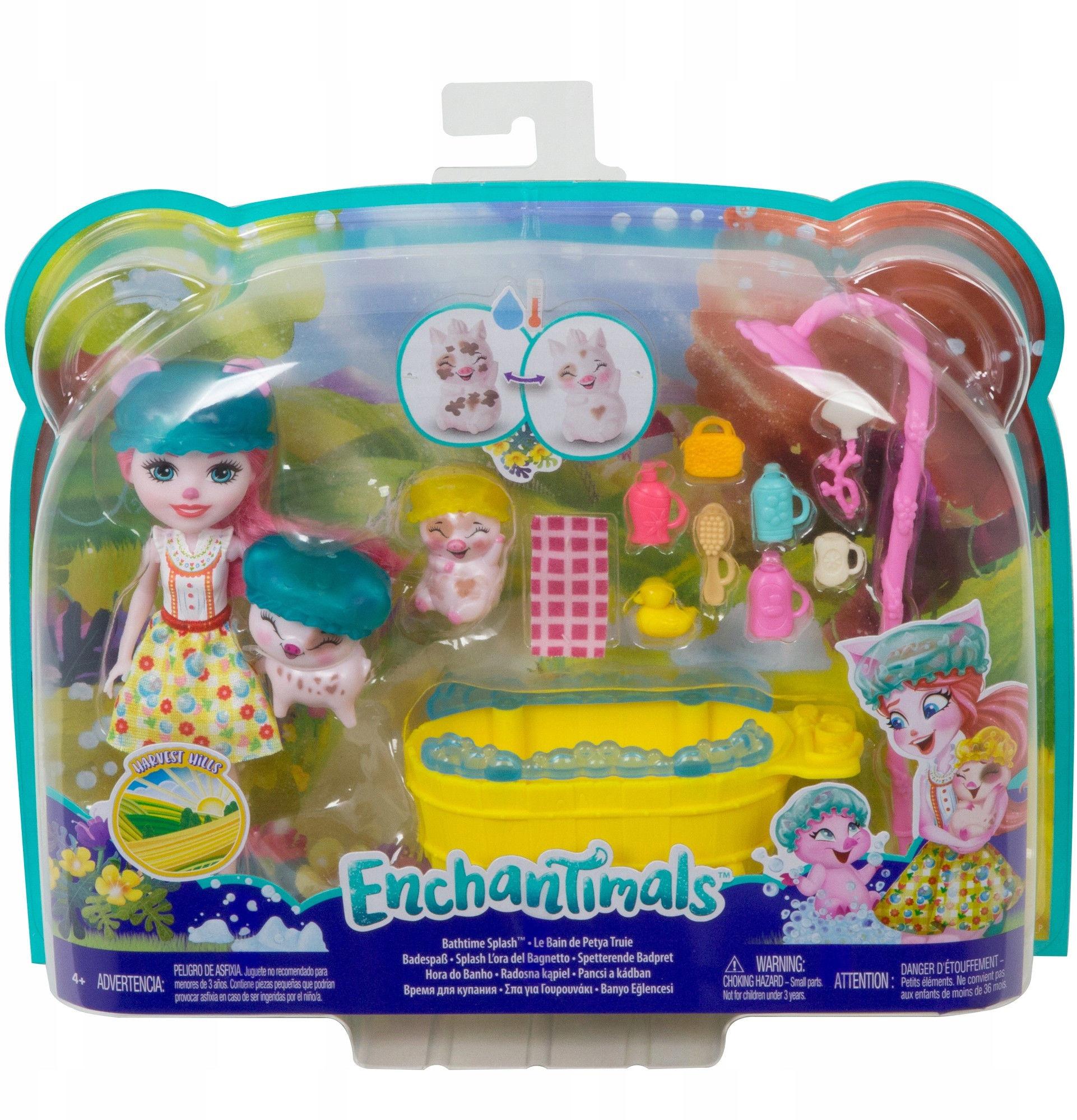 Enchantimals - Radosna kąpiel z laleczką Petya Pig GJX36