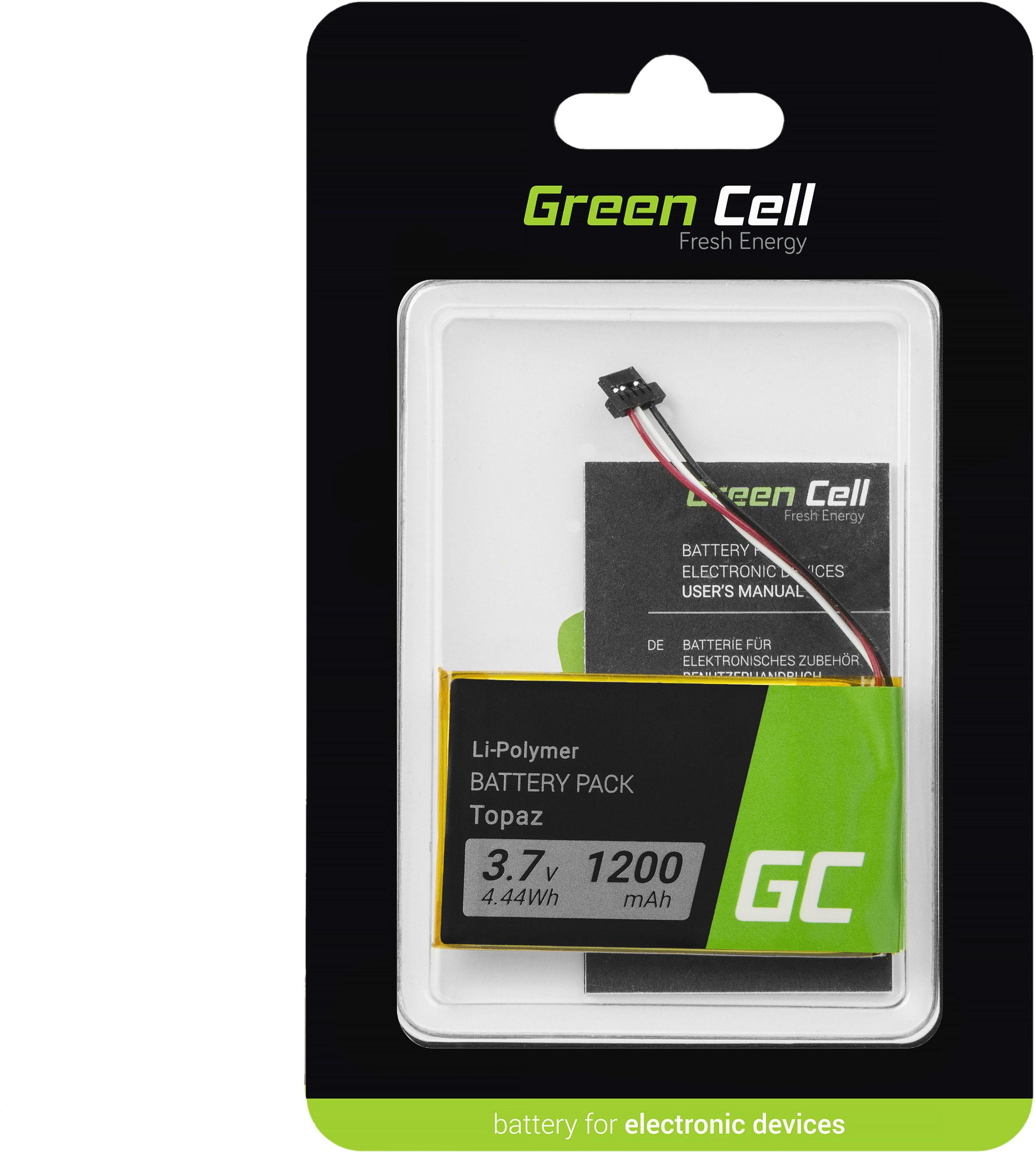 Bateria Green Cell Topaz do GPS Navigon 70 Plus 70/71 Plus 70/71 Premium 70/71 Easy, Li-Polymer 1200mAh 3.7V