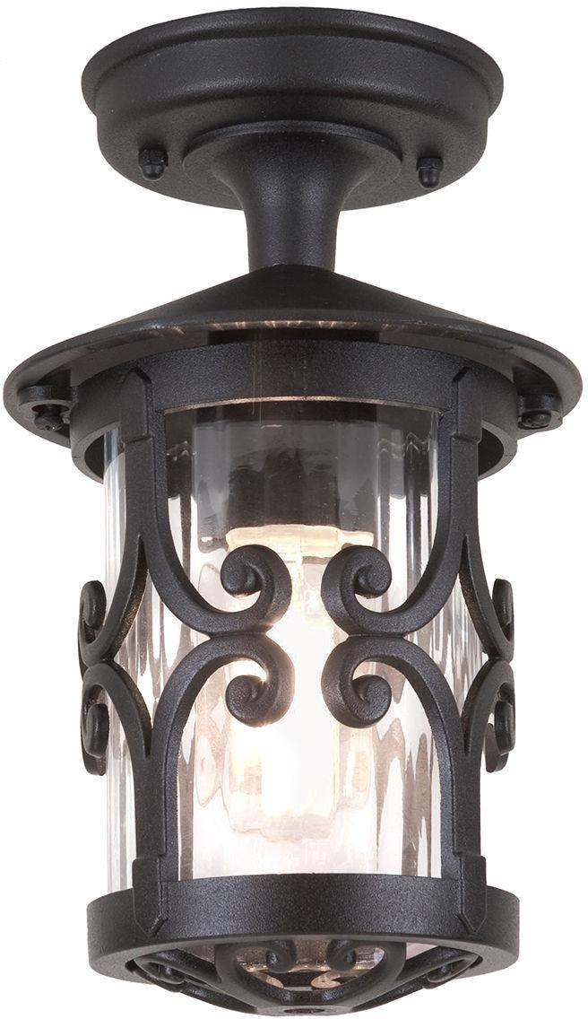 Plafon zewnętrzny Hereford BL13A Elstead Lighting klasyczna oprawa sufitowa w kolorze czarnym