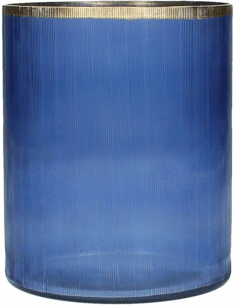 Świecznik - szkło - niebieski - świecznik