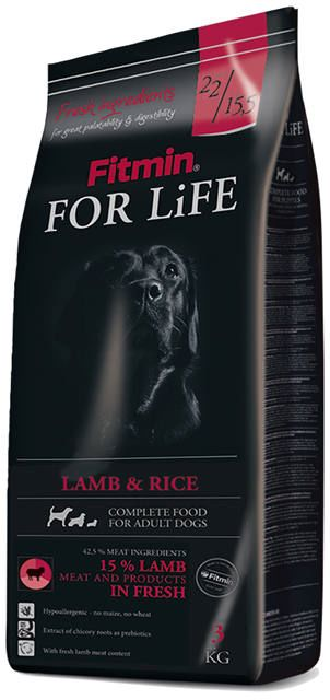 FITMIN - For life lamb&rice 3kg