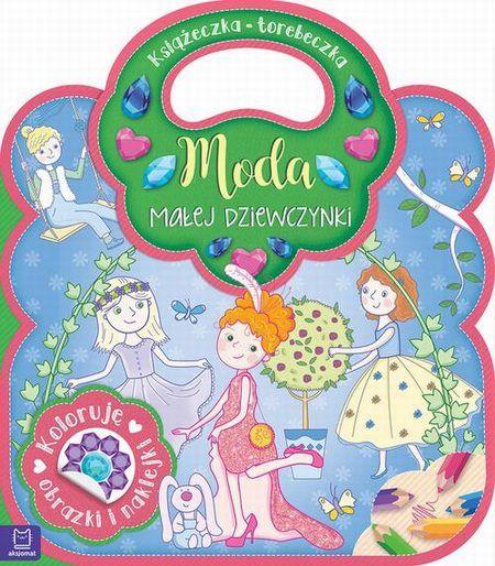 Książeczka-torebeczka Moda małej dziewczynki Kolorowanka z naklejkami