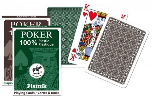 Karty pojedyncze talie plastik Poker ZAKŁADKA DO KSIĄŻEK GRATIS DO KAŻDEGO ZAMÓWIENIA