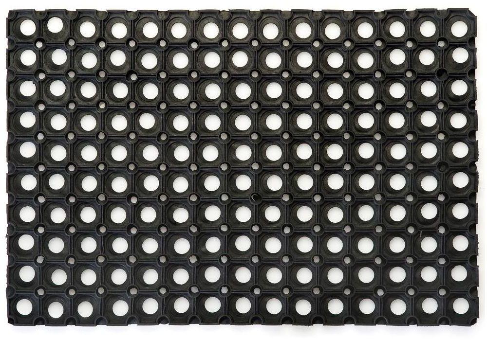 Wycieraczka zewnętrzna Alfa 150 x 100 cm gumowa czarna