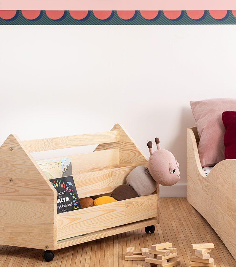 Drewniana skrzynia na zabawki Zozo 3S