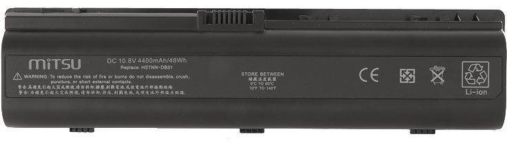 Bateria do laptopa HP Pavilion dv6123eu dv6123ea dv6122tx dv6122ea dv6121tx