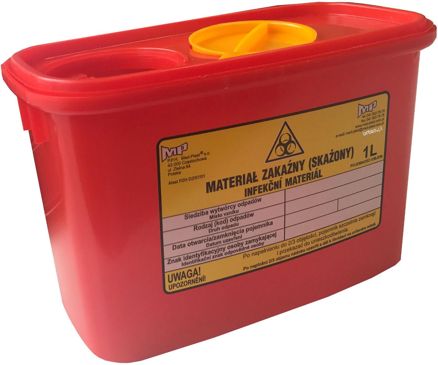 Pojemnik na zużyte igły i odpady medyczne (mp)