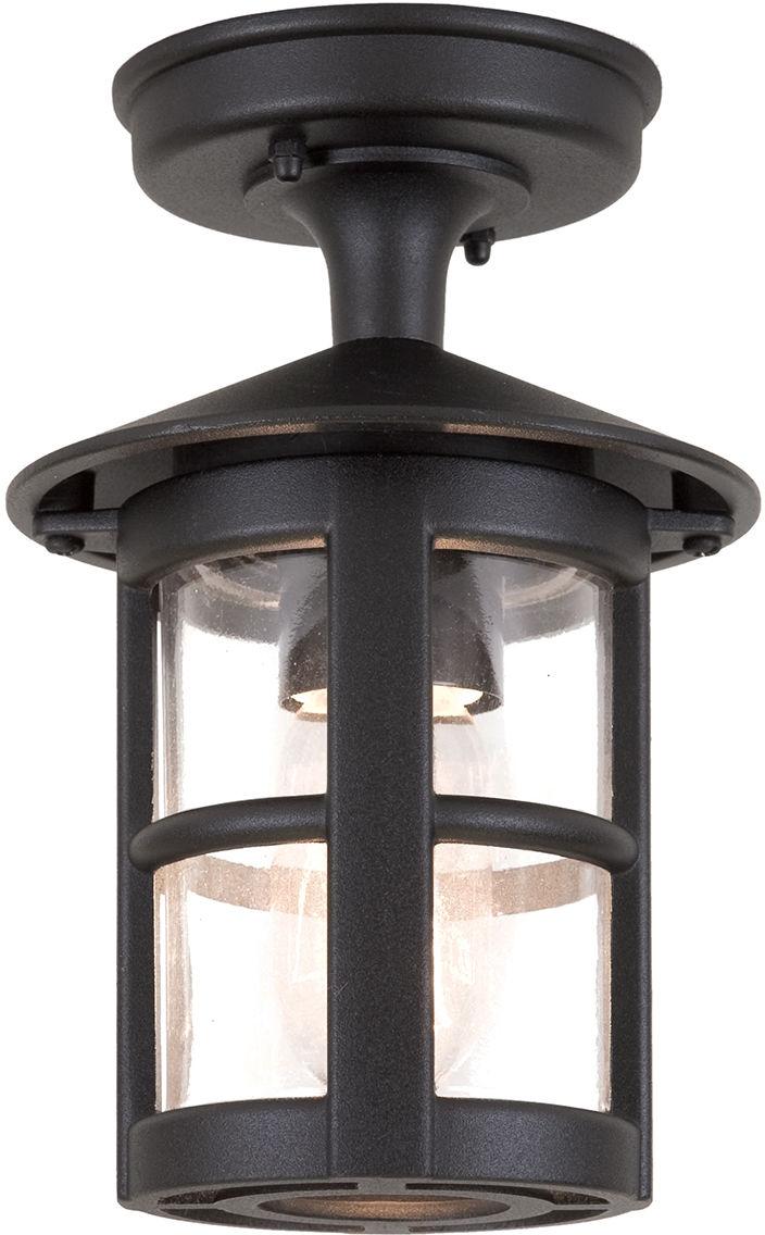 Plafon zewnętrzny Hereford BL21A Elstead Lighting klasyczna oprawa sufitowa w kolorze czarnym