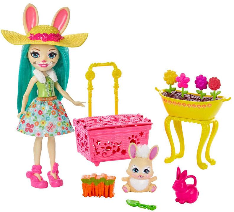Enchantimals - Wiosenne króliczki z laleczką Fluffy Bunny GJX33
