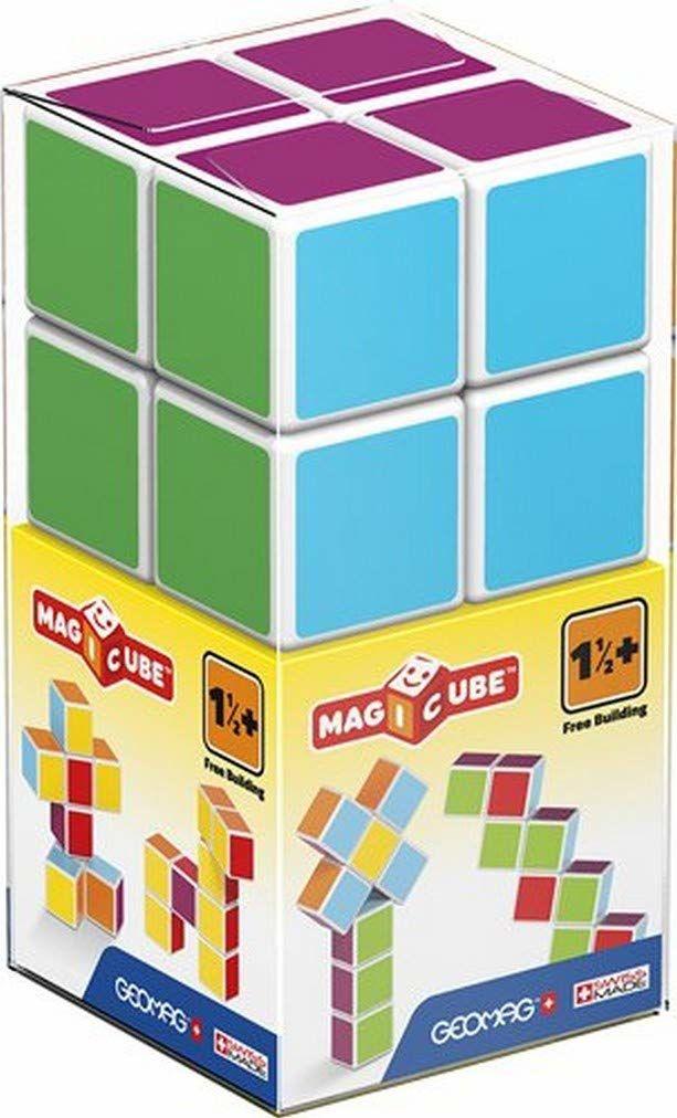 Geomag 127 - Magicube Free Building 8 kostka magnetyczna do konstrukcji, skrzynka budowlana zabawka edukacyjna