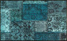 wash + dry Vintage Patches turkusowa wycieraczka akrylowa, zielona, 75 x 120 x 0,7 cm