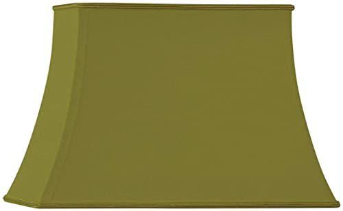 Klosz lampy w kształcie pagody, prostokątny, 35 x 25/23 x 14/25, zielony/brąz