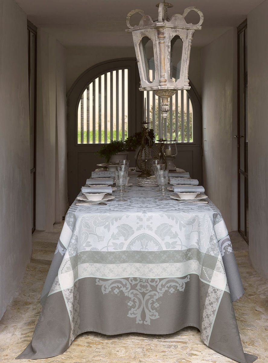 Obrus żakardowy Le Jacquard Fran ais Azulejos Grey