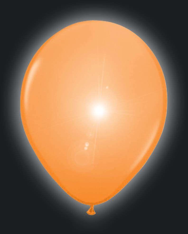 Folat 08557 pomarańczowe balony LED - 5 sztuk