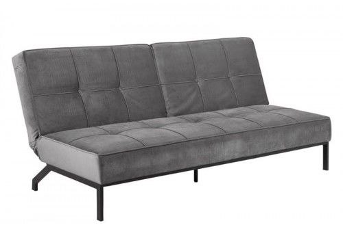 Sofa rozkładana Perugia VIC velvet szara