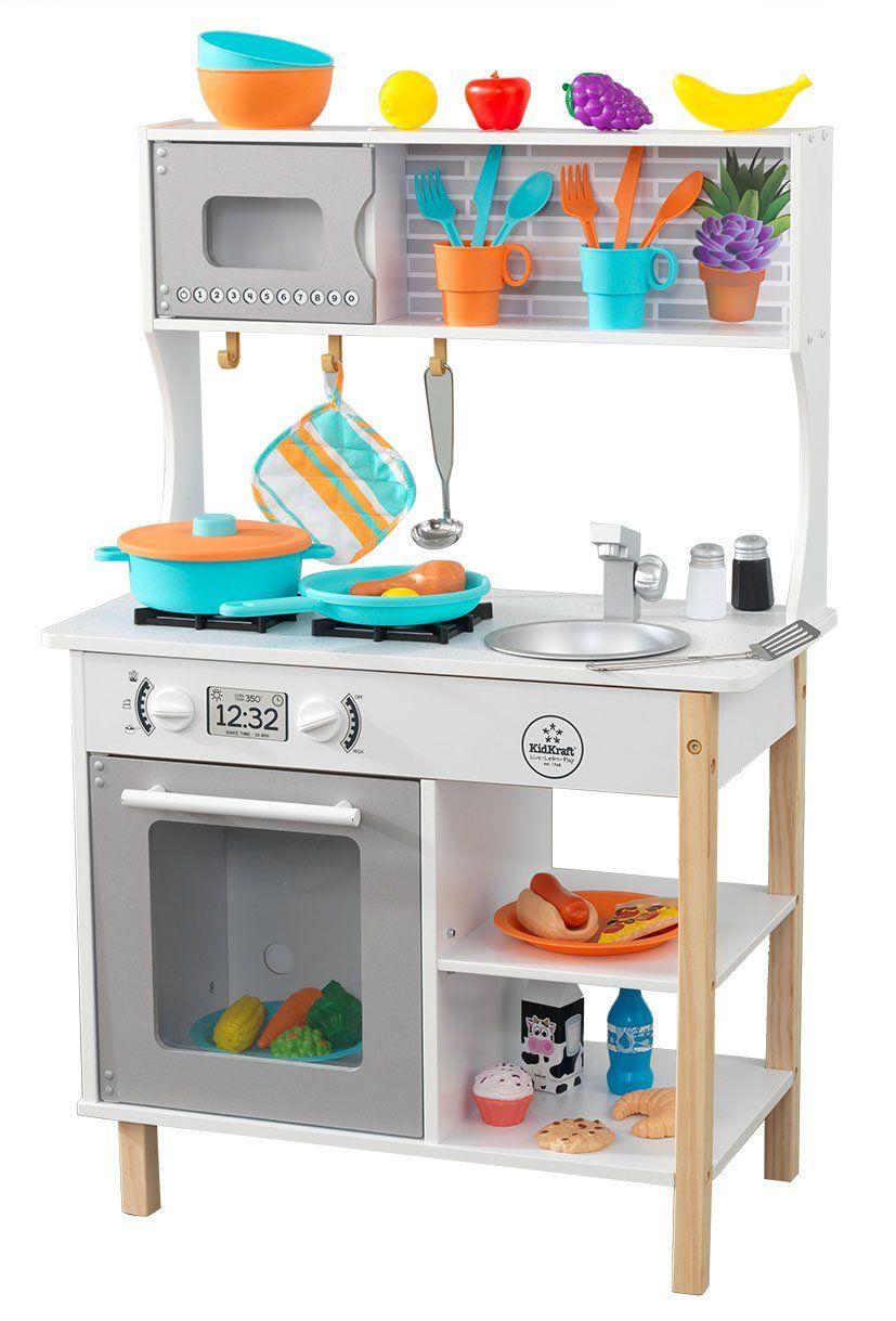 KidKraft 53370 All Time drewniana kuchnia do zabawy dla dzieci