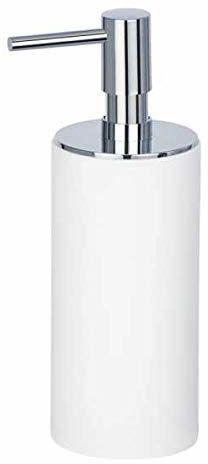 WENKO Dozownik mydła Ida  dozownik mydła w płynie, dozownik płynu do mycia naczyń, pojemność: 0,14 l, 6 x 17,5 x 7,5 cm, biały