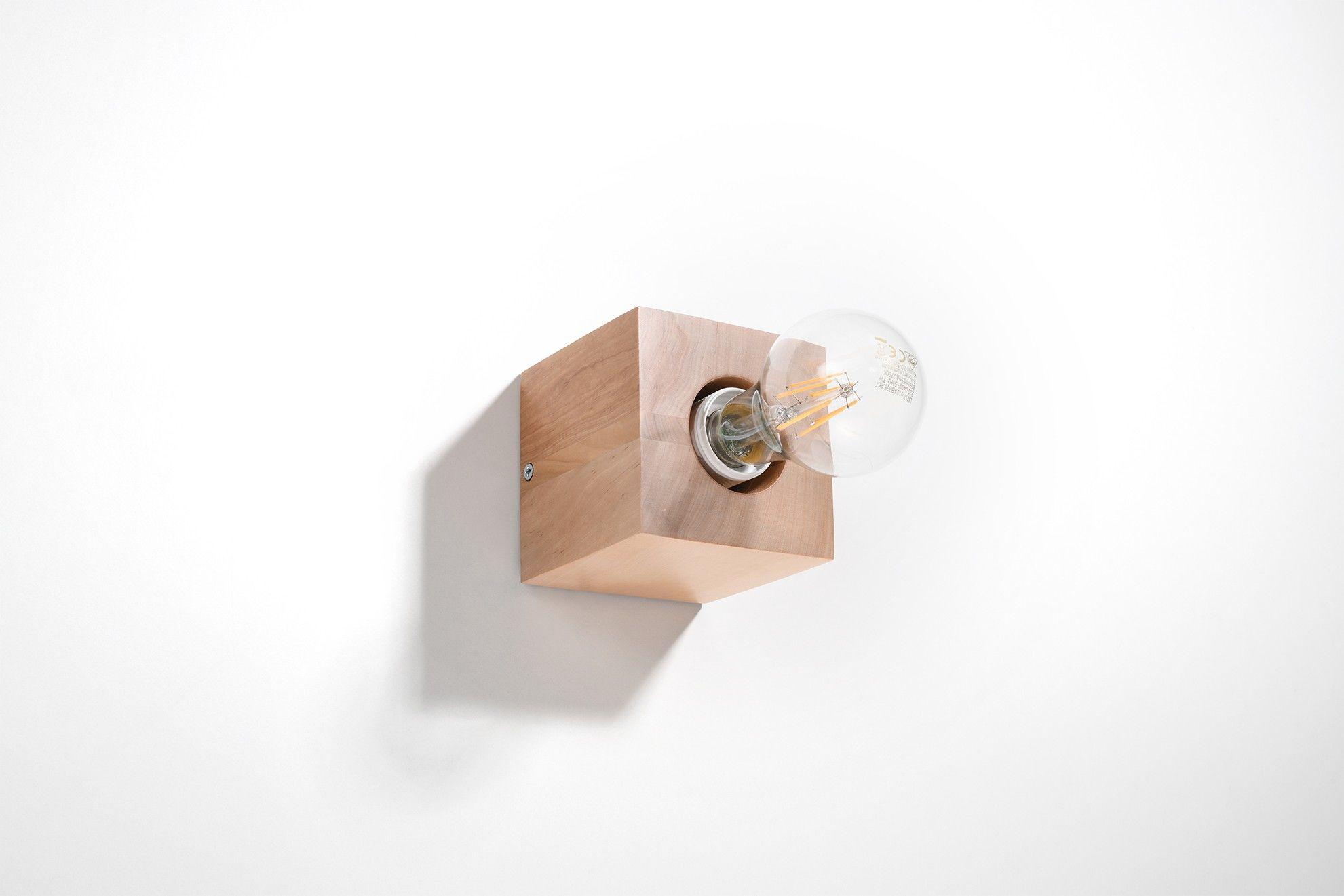 Kinkiet ABEL naturalne drewno SL.0676 - Sollux Do -17% rabatu w koszyku i darmowa dostawa od 299zł !