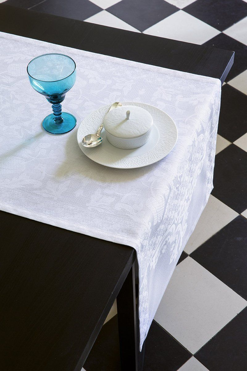 Bieżnik żakardowy Le Jacquard Fran ais Azulejos White - White