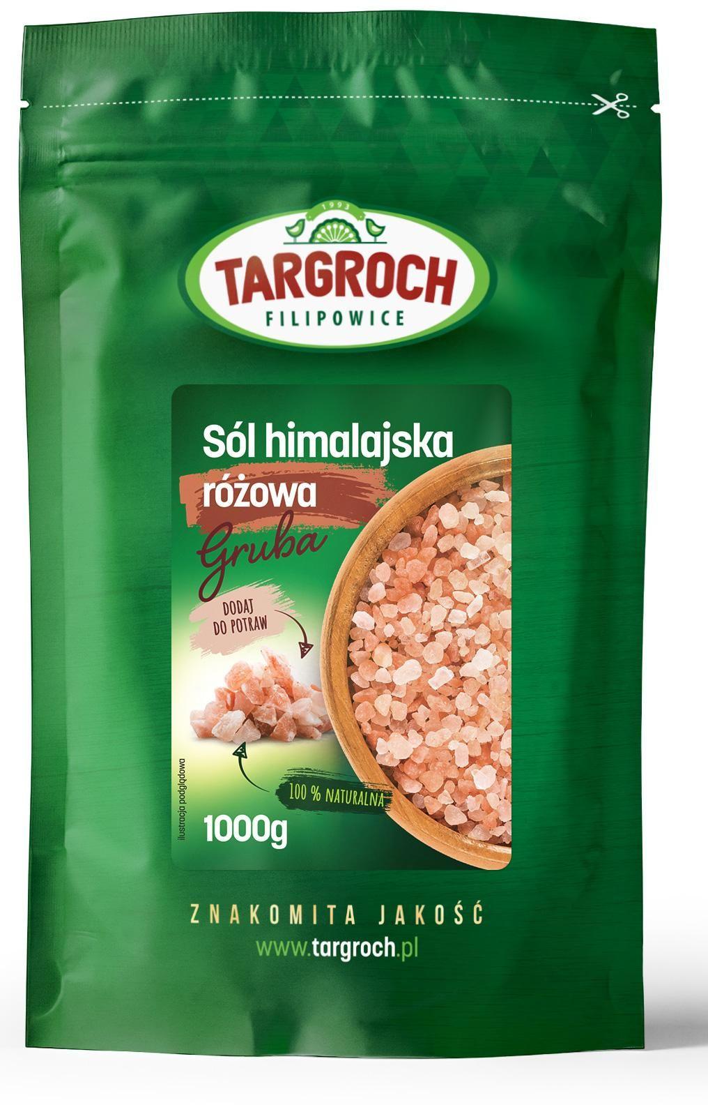 Sól Himalajska Różowa Gruba 1kg - Targroch