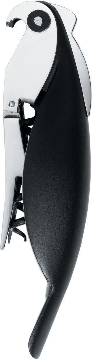 A di Alessi korkociąg papugowy, czarny, (AAM32 B)