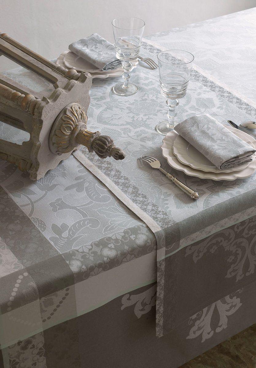 Bieżnik żakardowy Le Jacquard Fran ais Azulejos Grey - Grey