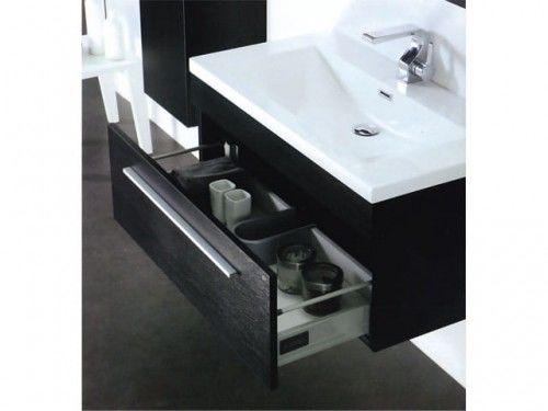 Szafka łazienkowa pod umywalkę FLORIDA, jabłoń / wenge Made in Italy
