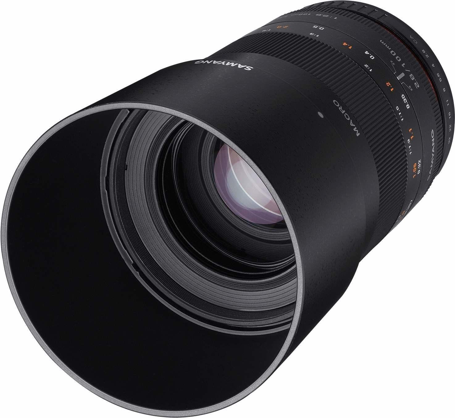 Samyang 100 mm F2.8 Makro do Sony A  pełnoklatkowy obiektyw i APS-C Macro teleobiektyw stałoogniskowy do Sony A Mount, ręczne ostrość, do Sony A99 II, A68, A77 II, A58, A99, A37, A65, A77, A35