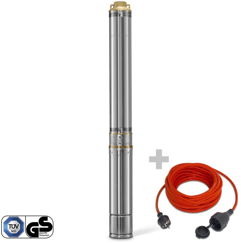 Pompa głębinowa TDP 7500 E + Przedłużacz jakościowy 15 m / 230 V / 1,5 mm