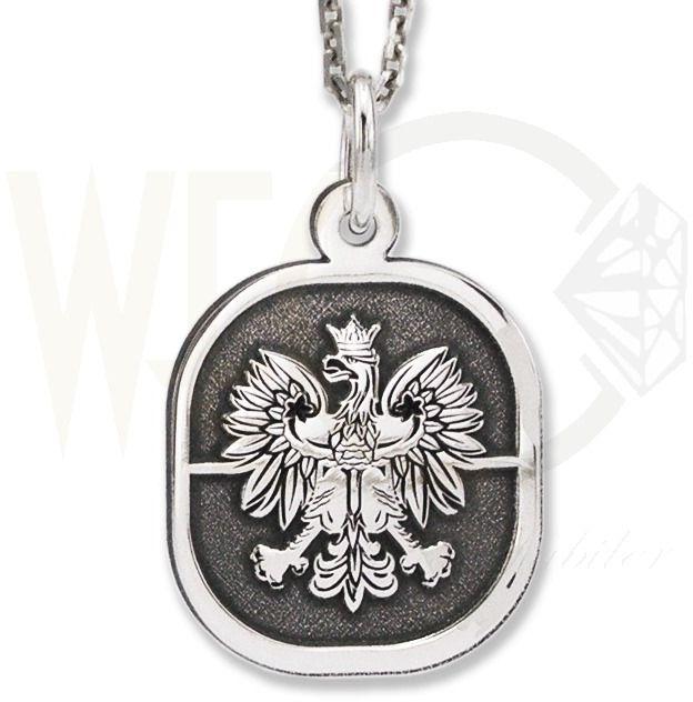 Wisiorek z łańcuszkiem ze srebra orzeł-4