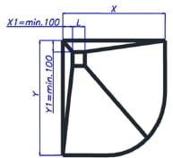 Wiper Showerbase płyta prysznicowa z wpustem punktowym OW 80x80 cm