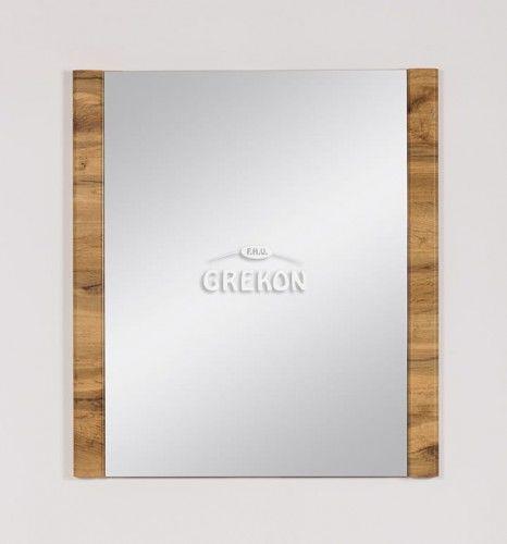 Lustro łazienkowe, kolor dąb naturalny 70x80cm, Styl Loftowy, Gante OLIMPIA