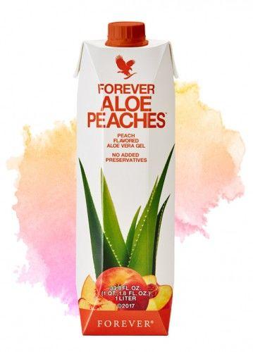 Forever Aloe Peaches  - Nowość - Aloe Vera Gel 84,3%