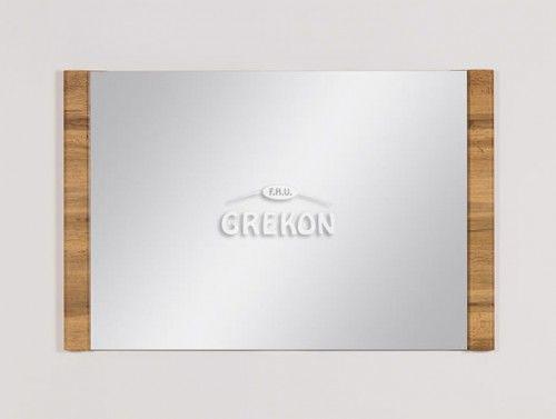 Lustro łazienkowe, kolor dąb naturalny 100x65cm, Styl Loftowy, Gante OLIMPIA