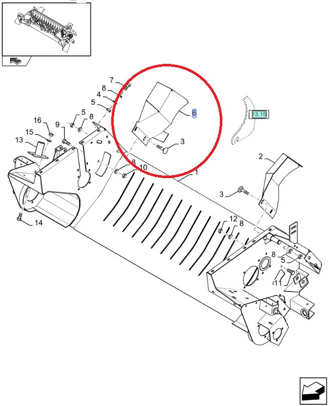 Osłona podbieracza New Holland CNH 87618244
