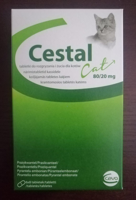 Ceva Cestal cat flavour blister 8 tabletek - Tabletki Odrobaczające dla Kotów.